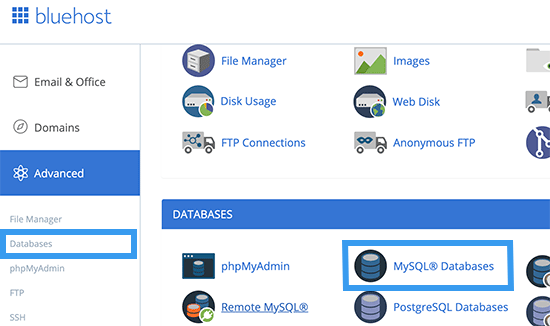 Picture: Database hosting account mysql