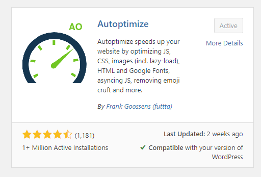 Increase Site Speed with Autoptimize