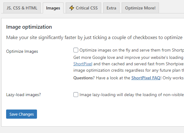 Speed up WordPress and Lower Image Size
