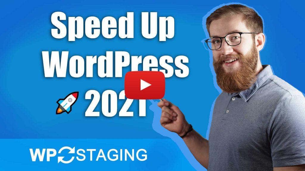 Speed up WordPress - Video