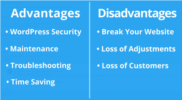 Advantages and Disadvantages of Automatic WordPress Updates