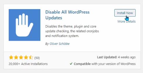 "The Plugin ""Disable All WordPress Updates"""