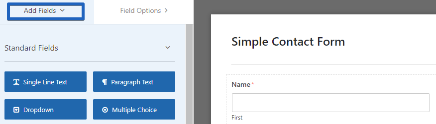 "You can add a new fields via ""Add Fields"""