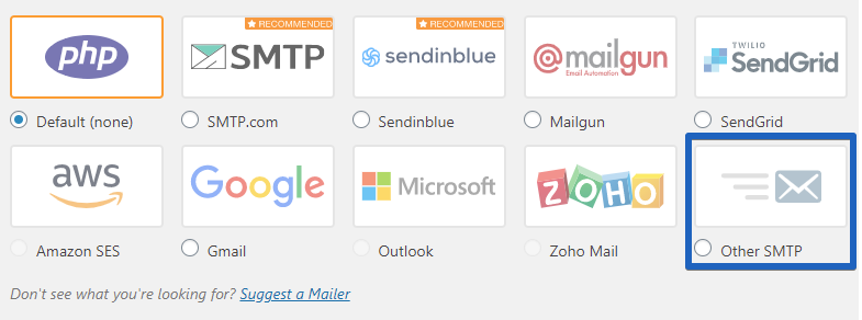 """Choose your """"mailer"""""""