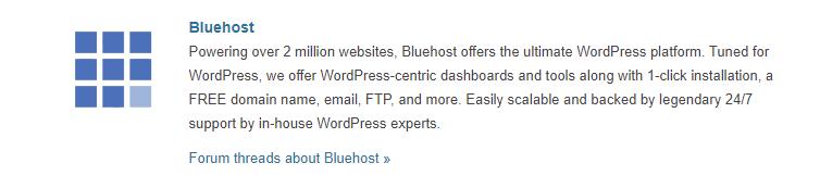 Bluehost WordPress Hosting Provider