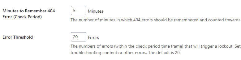 iThemes Security: 404 detection