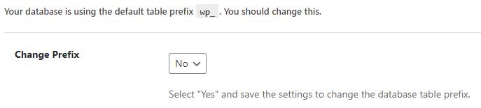 iThemes: New Change Table Prefix