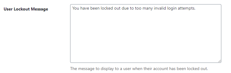iThemes Security: Lockout Message