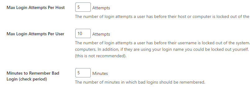 iThemes Security: Login Settings