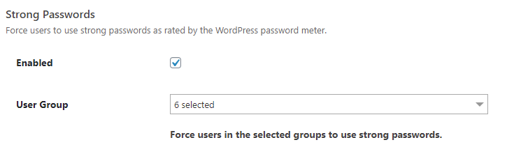 iThemes Security: Strong Passwords