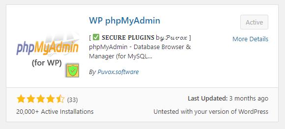"""""""phpMyAdmin"""" Plugin"""