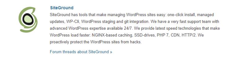 SiteGround WordPress Hosting Provider