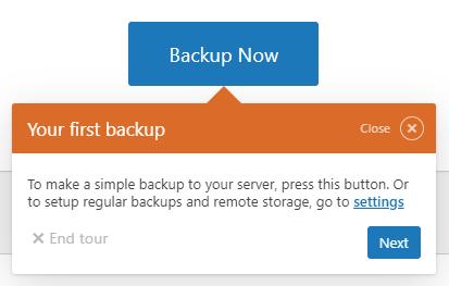 """Updraft """"Backup Now"""""""