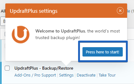 Updraft Plugin Setup