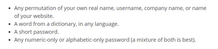 WordPress.org: Passwords