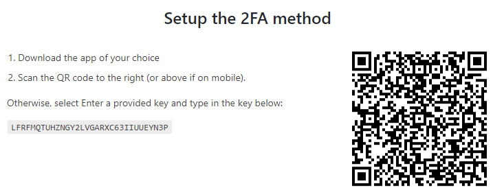 WP 2FA: Scan the QR Code