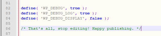 Edit the wp-config.php File