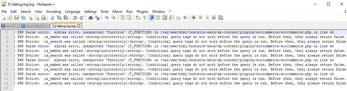 The WordPress Debug.Log File