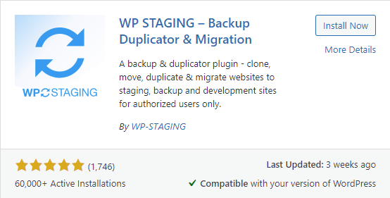 The WP STAGING Plugin