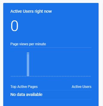 Zero Active Google Analytic Users